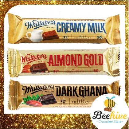 Whittakers Almond Gold Milk Chocolate 33% Cocoa 50g